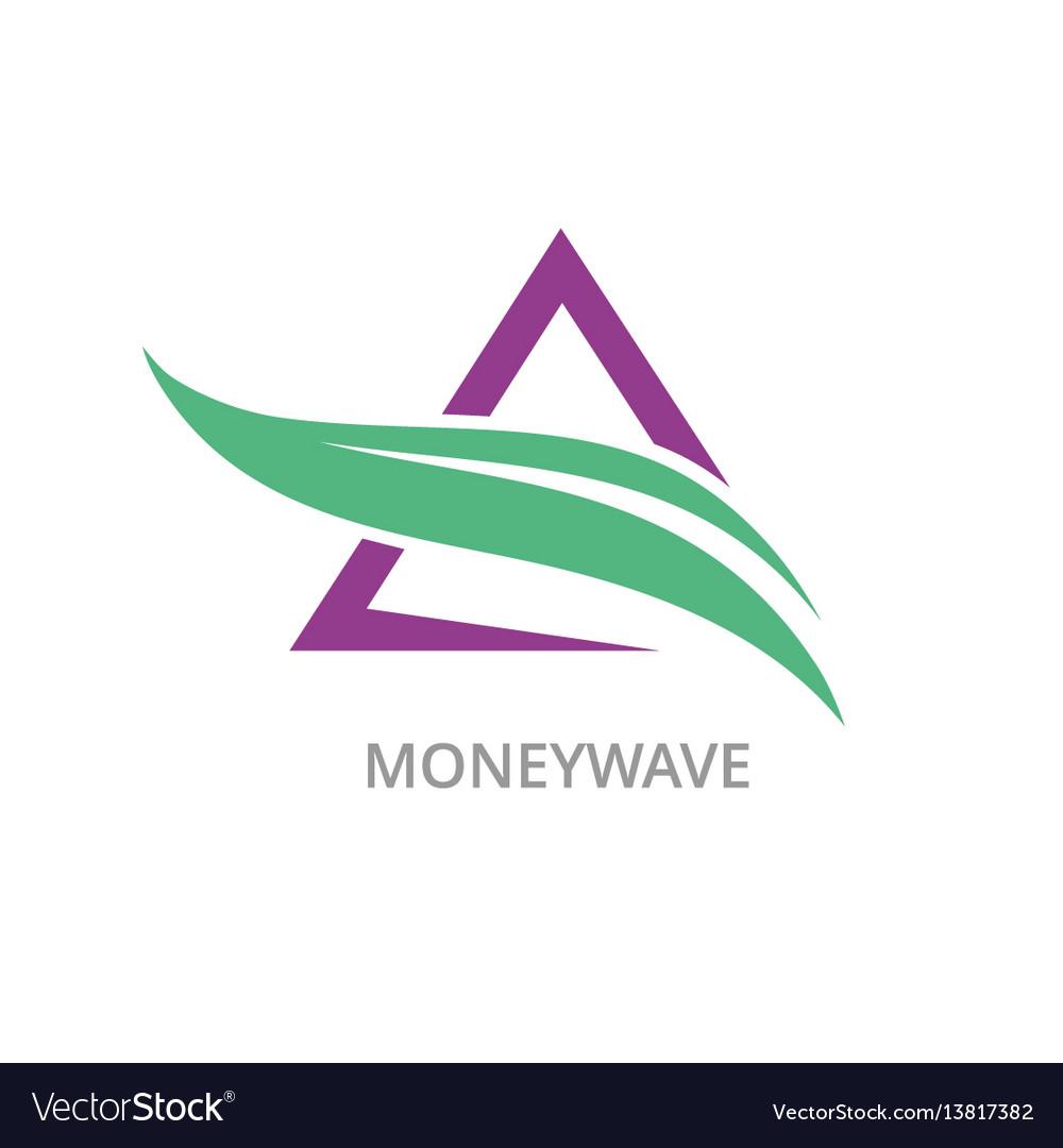 Triangle money wave logo