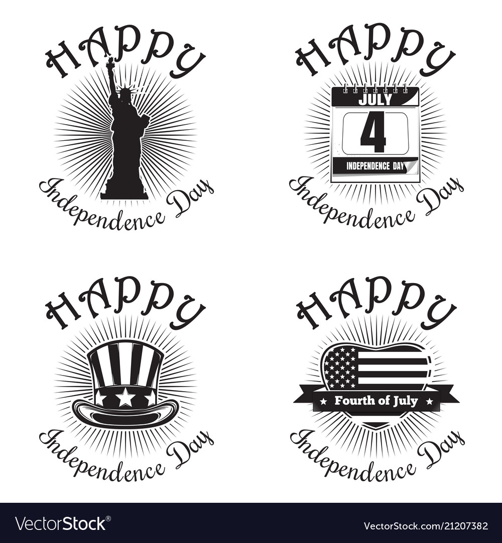 Us independence day icon set