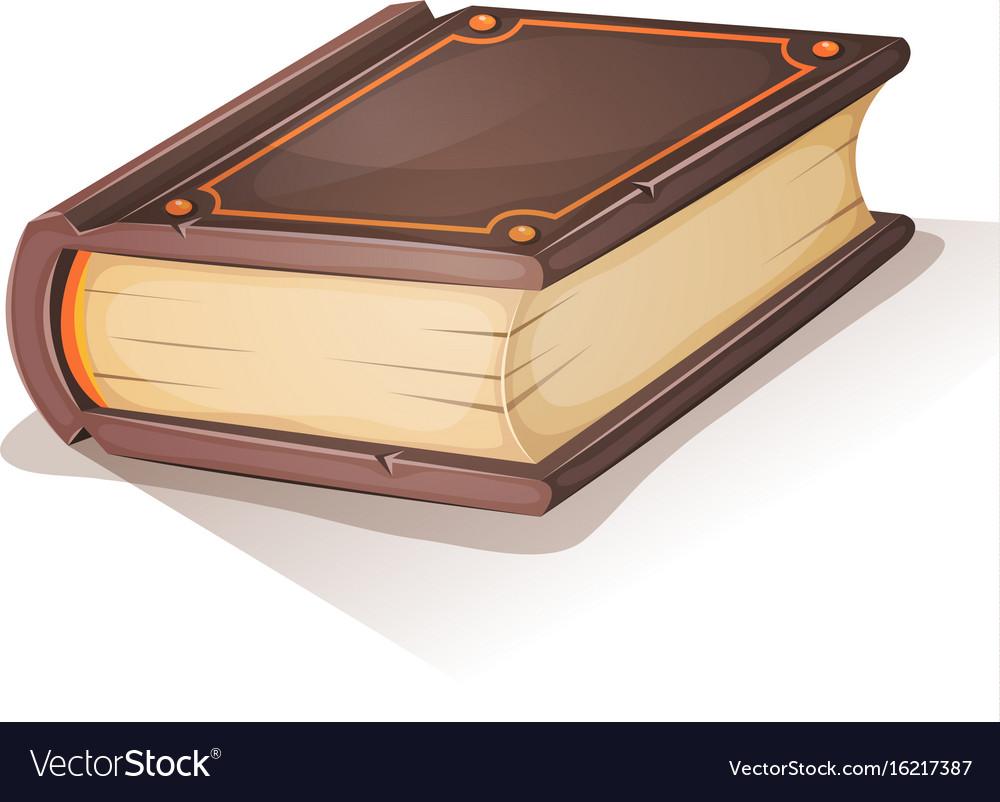 Cartoon old book vector image