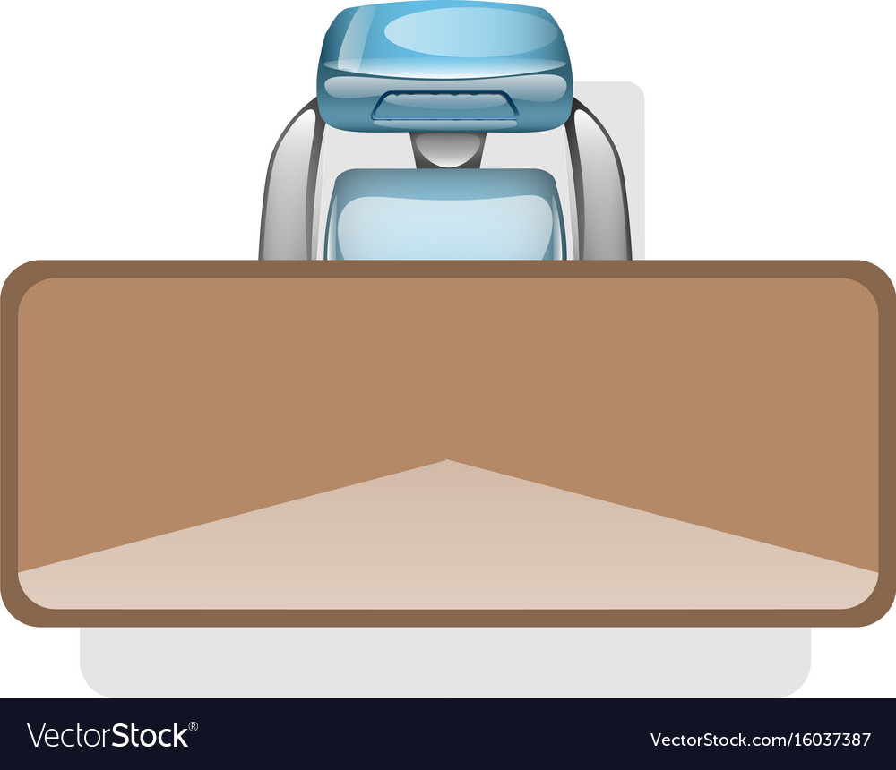Desktop and chair top view vector image