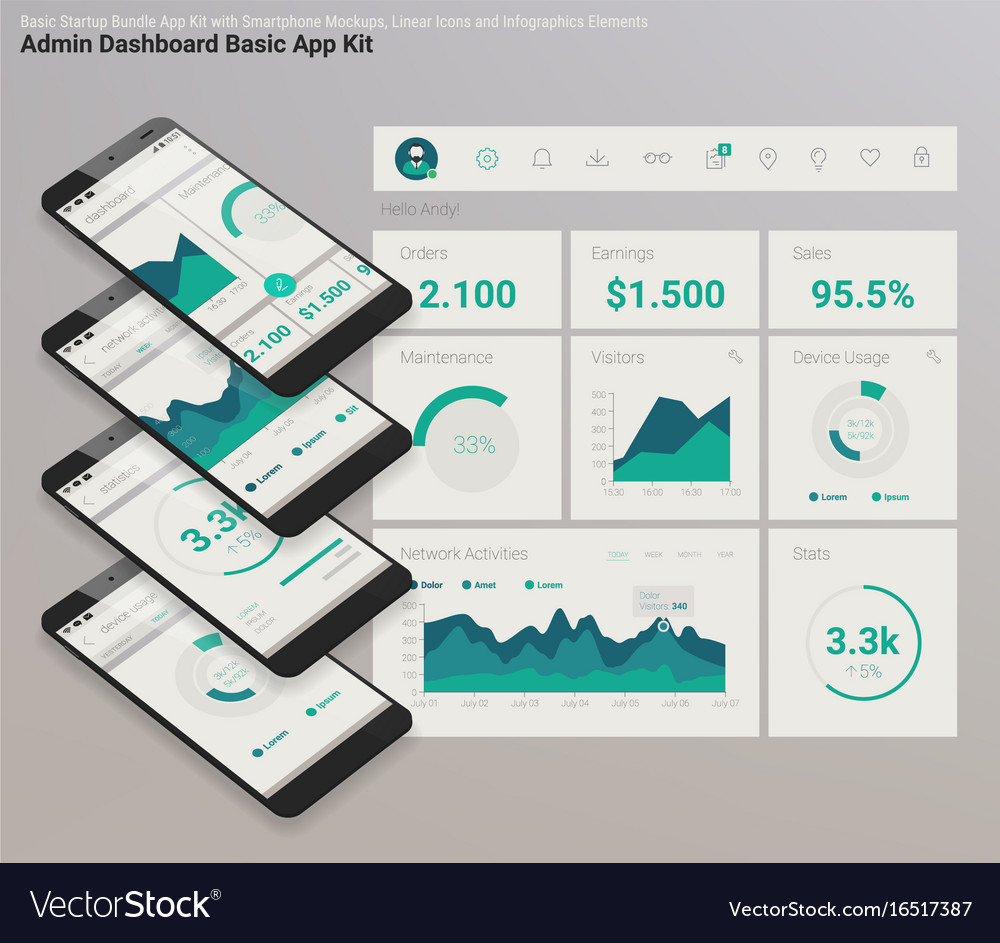 Icon Admin Dashboard Vector Images 58