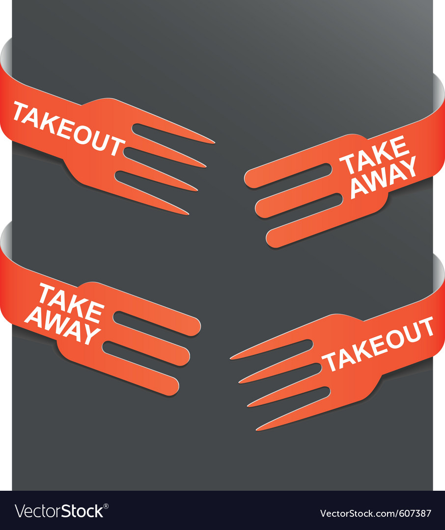 Left and right side signs - takeout and takeaway