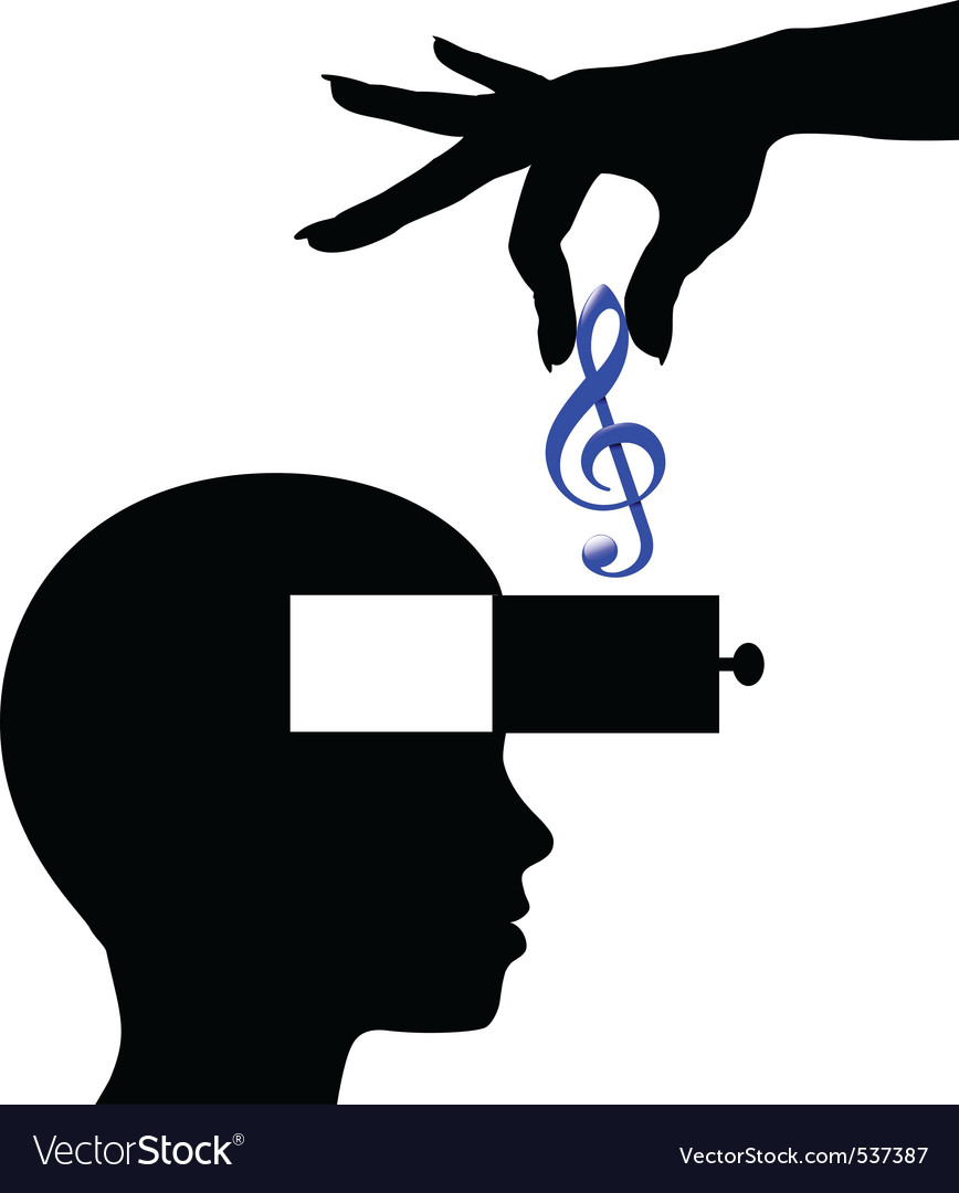 Music download lessons vector image