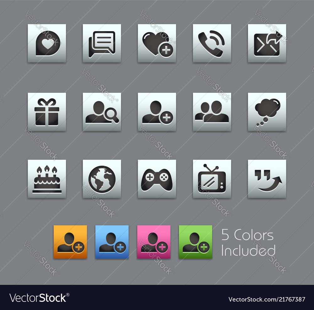 Social communications icons - satinbox series