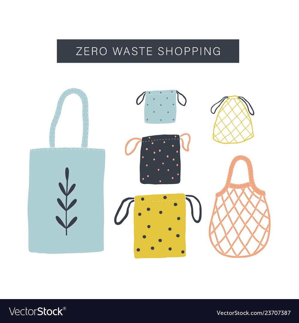 Zero waste shopping toolkit flat lay