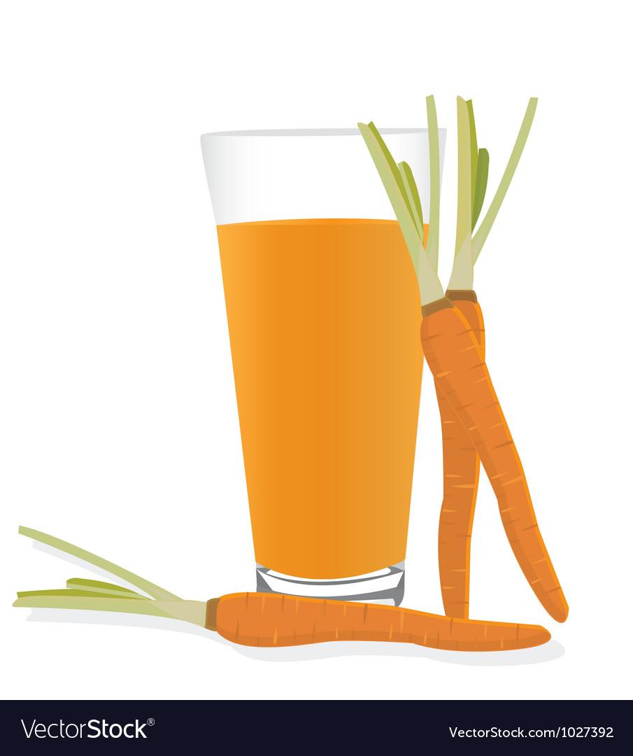 Carrot Juice Royalty Free Vector Image Vectorstock