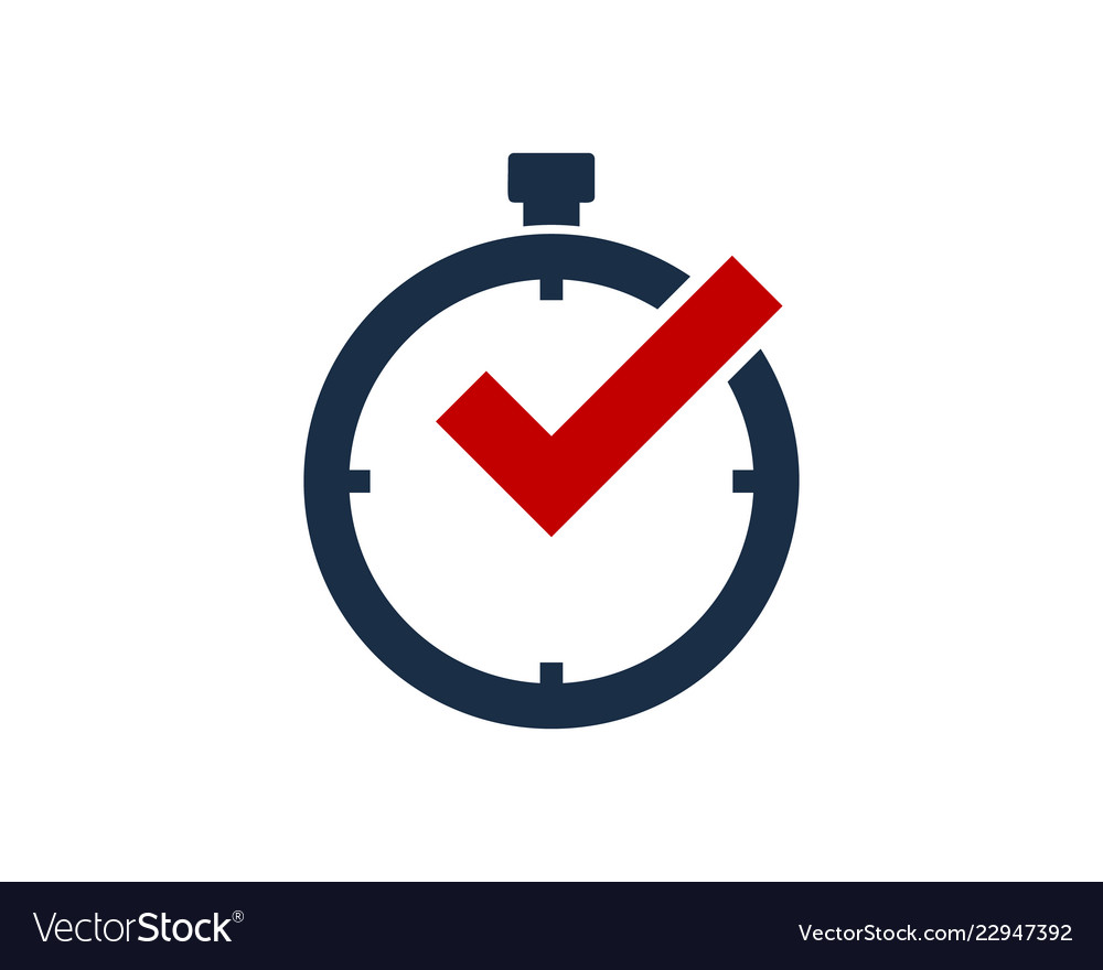 Check time logo icon design