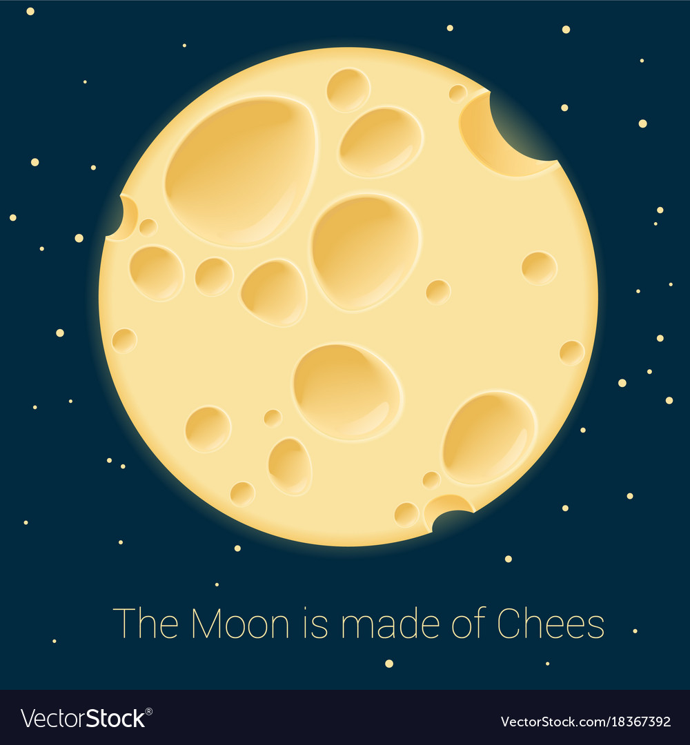 cheese moon template royalty free vector image