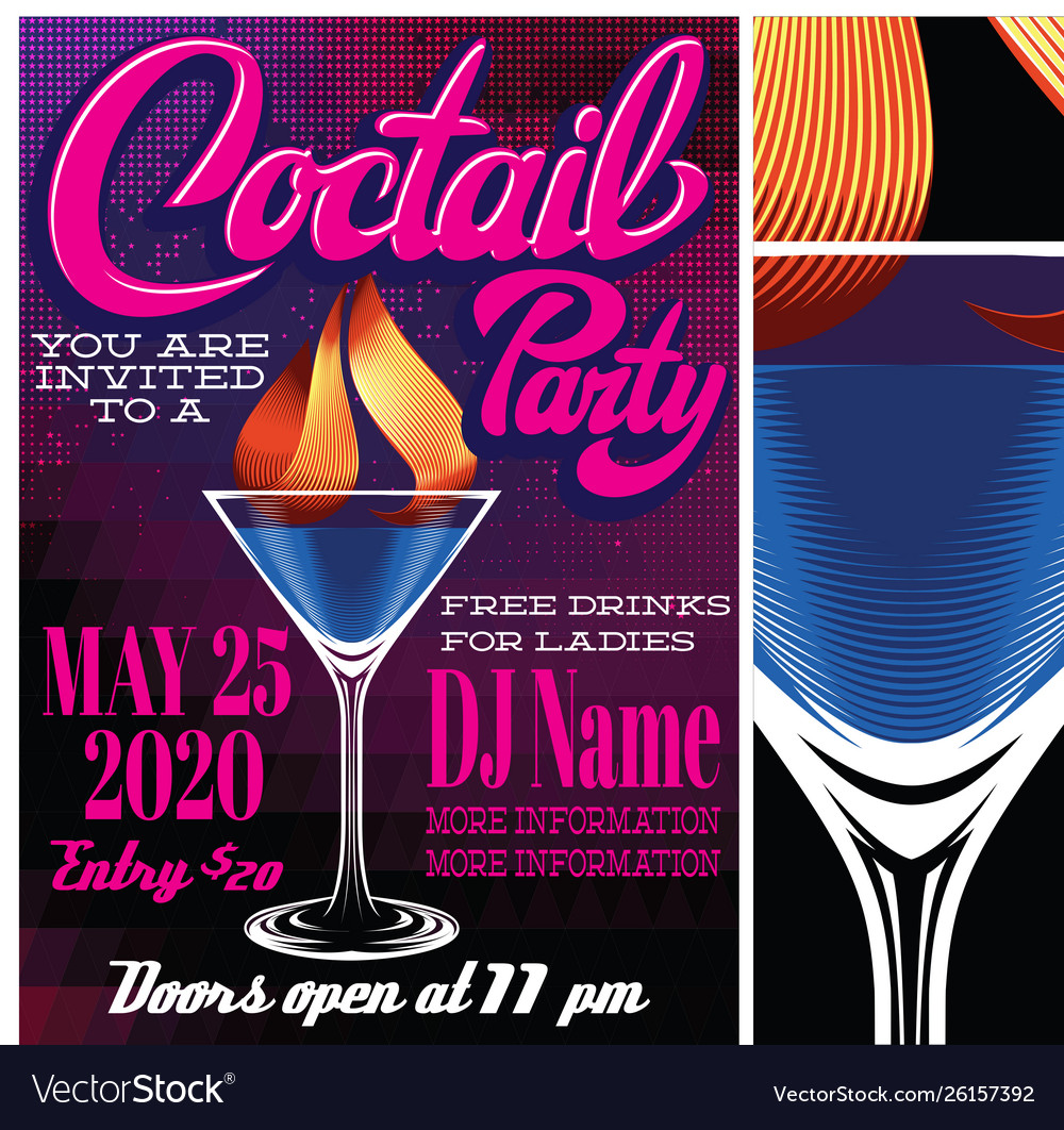 Color for advertising cocktail party