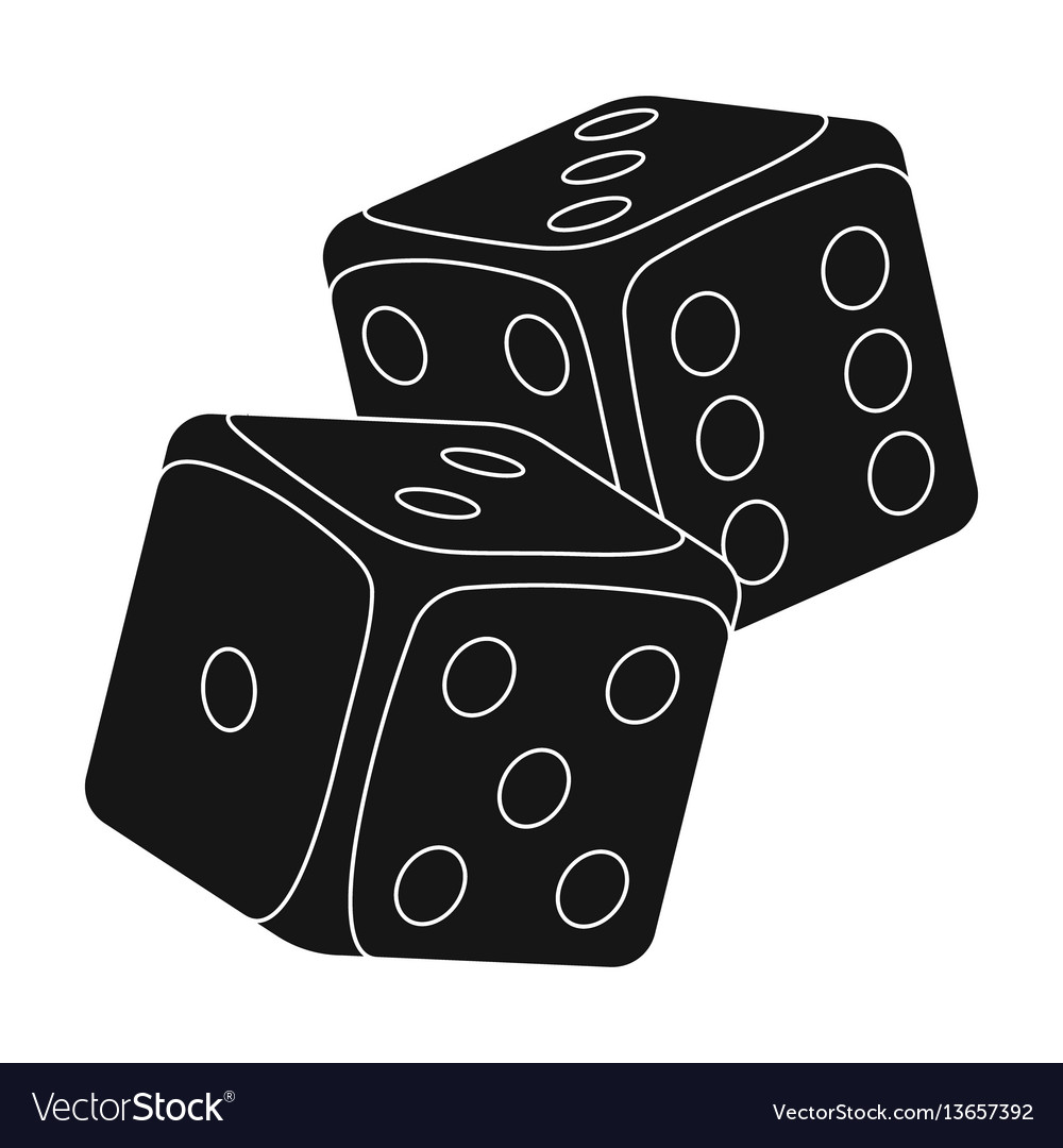 Dice for games in the casino stones to throw on