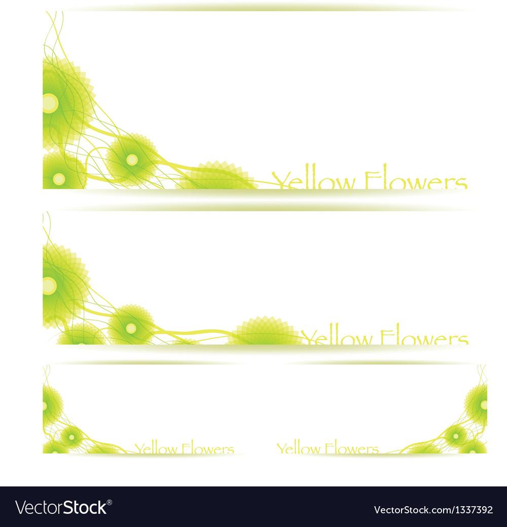 Flower background brochure template