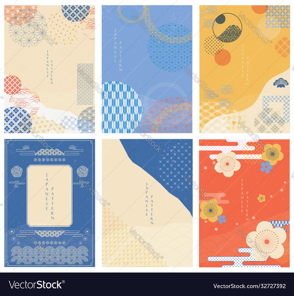Japanese template with geometric pattern