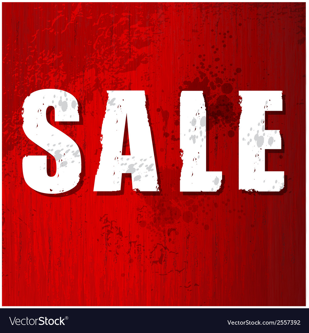 Old damaged sale sign vector image