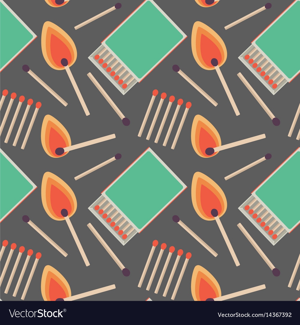 Seamless pattern with flat matches