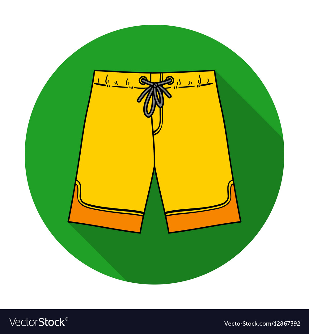 Swimming trunks icon in flat style isolated on