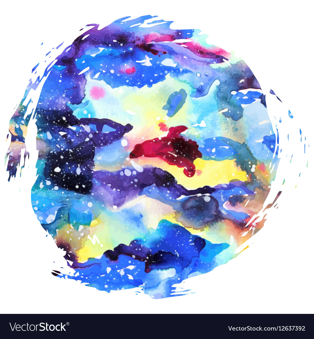 watercolor galaxy background royalty free vector image