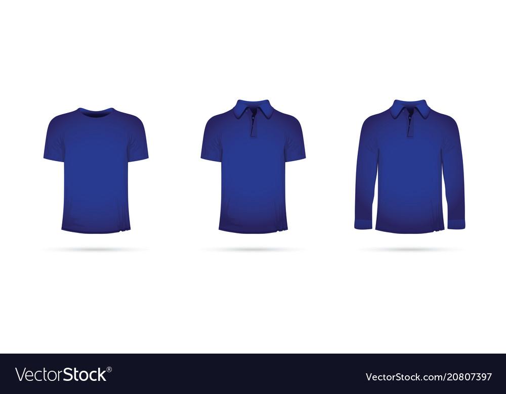 A set of blue t-shirts