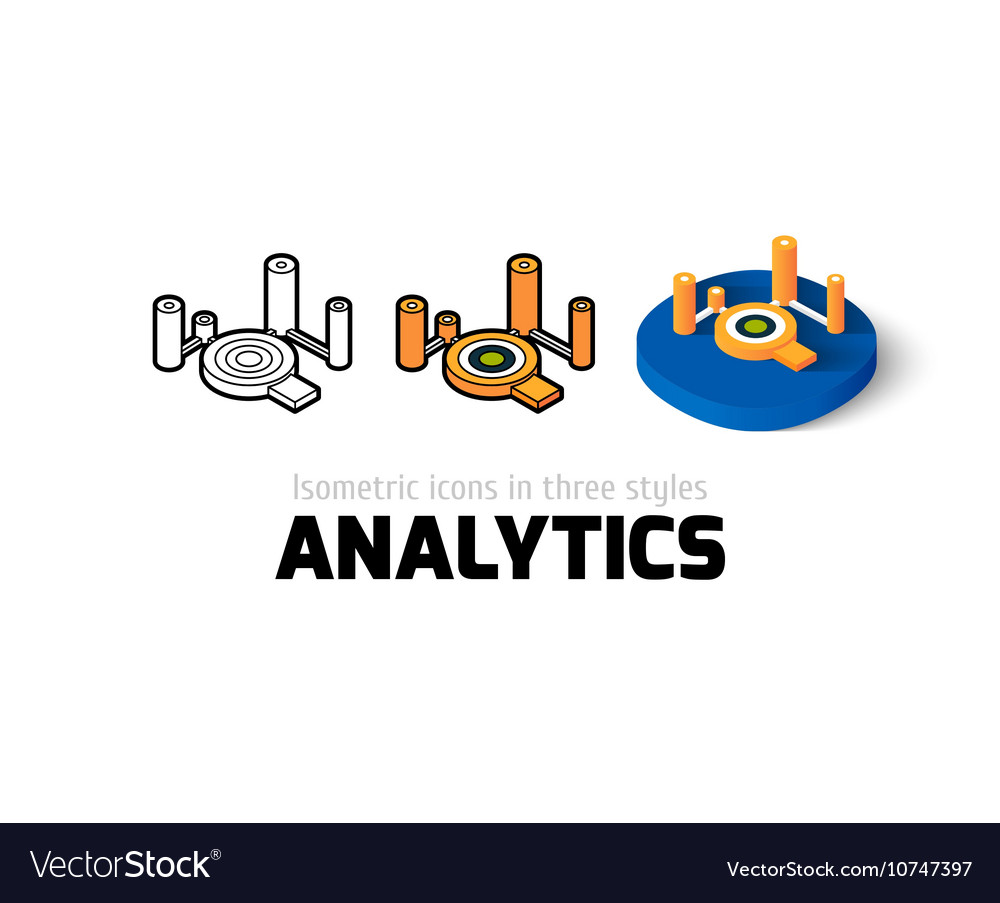 Analytics icon in different style