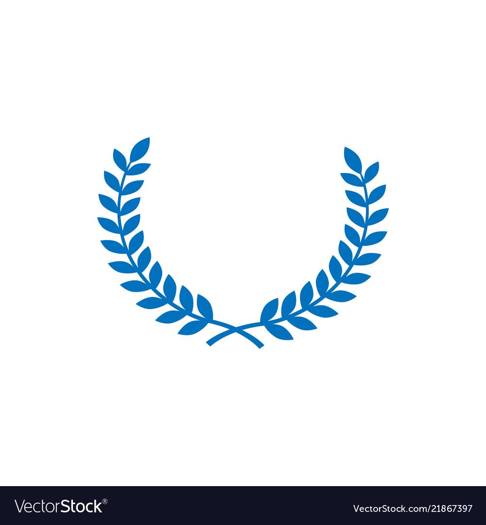 Circle wheat symbol design graphic template