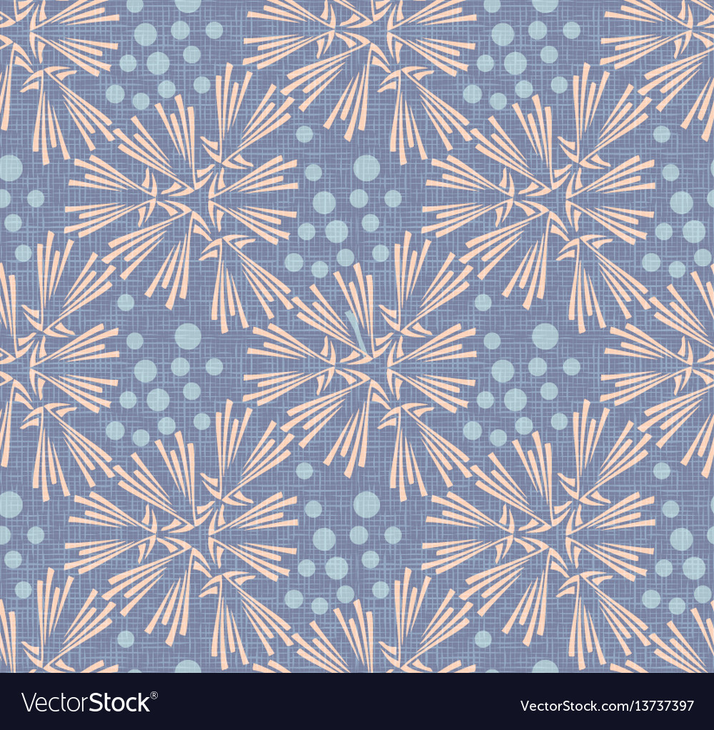 Dandelion with polka dot canvas seamless pattern vector image