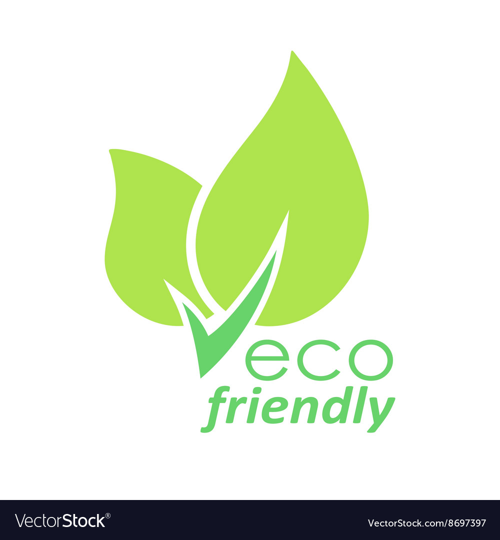 eco friendly green leaves logo royalty free vector image