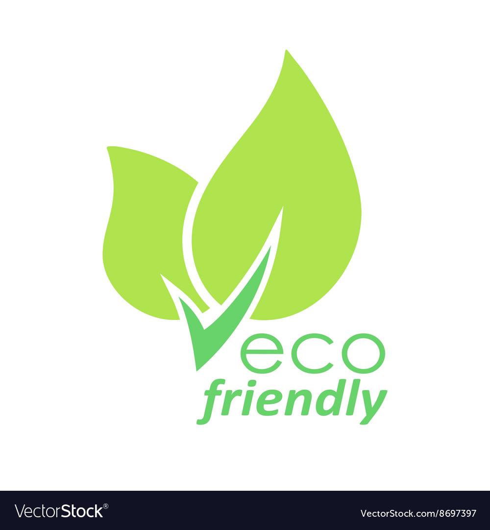 Eco friendly green leaves logo