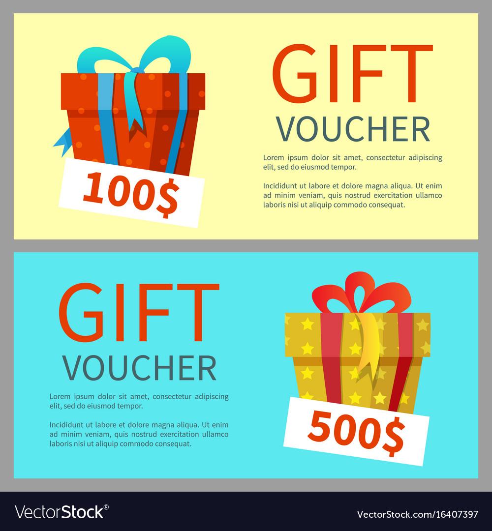 gift voucher design royalty free vector image vectorstock
