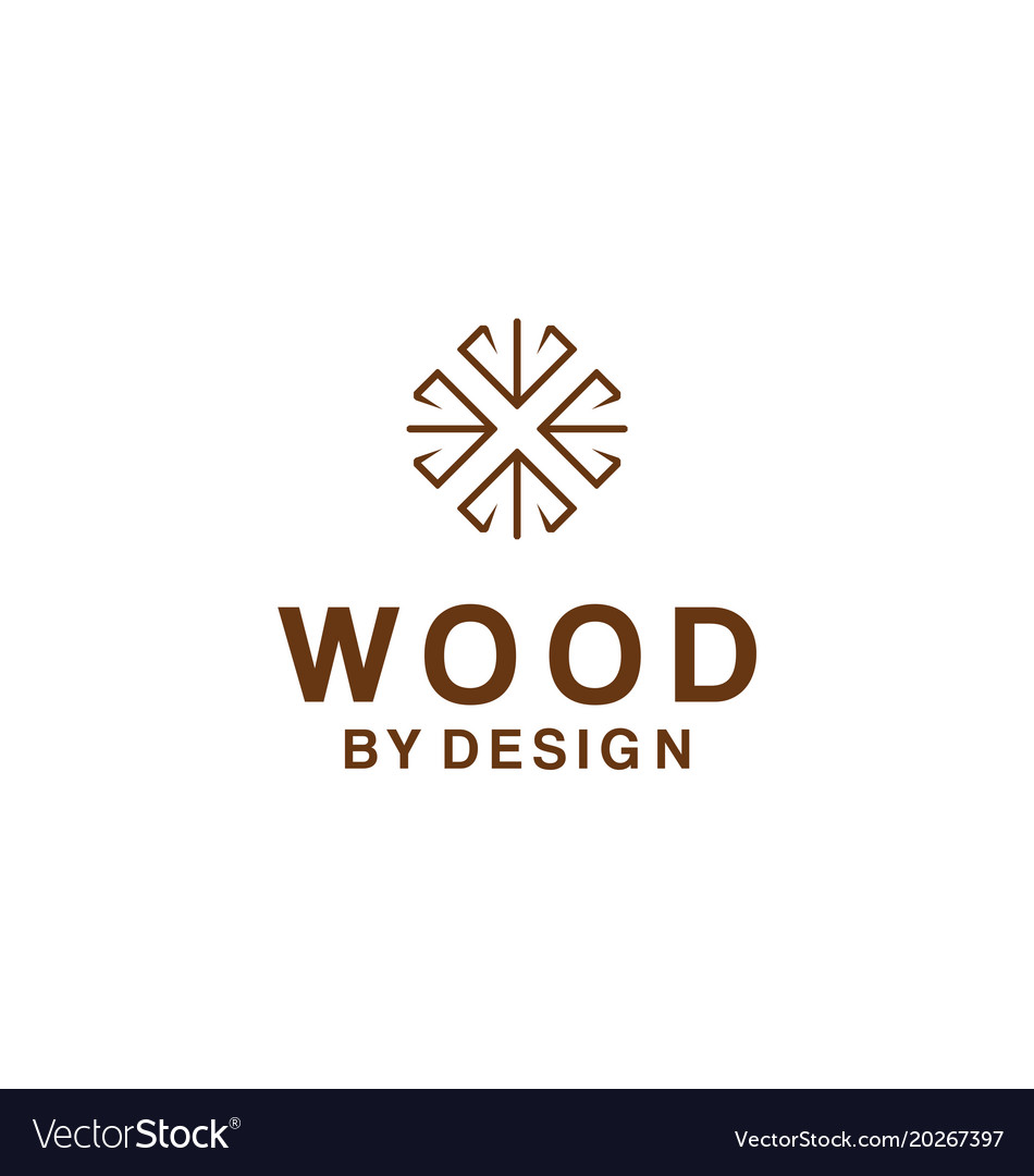 Logo For Wood Design Company Vector Image