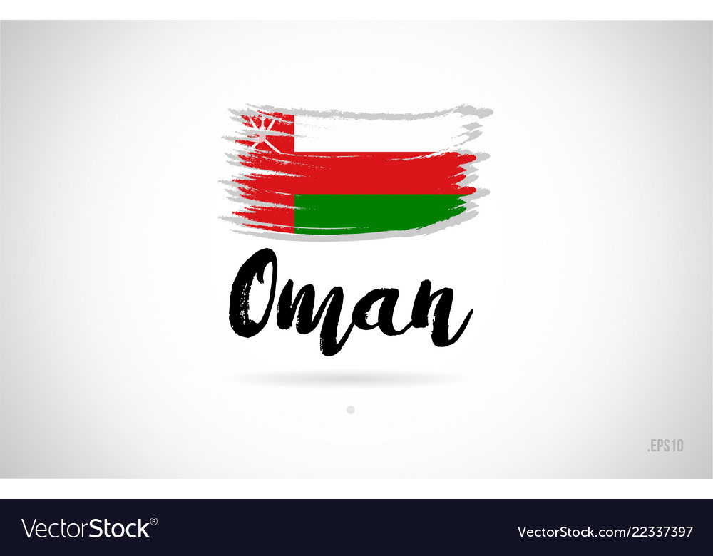 Oman Country Flag Concept With Grunge Design Icon