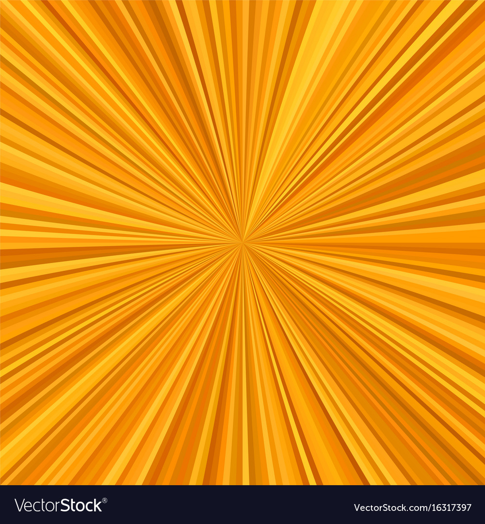 Orange starburst background from radial stripes