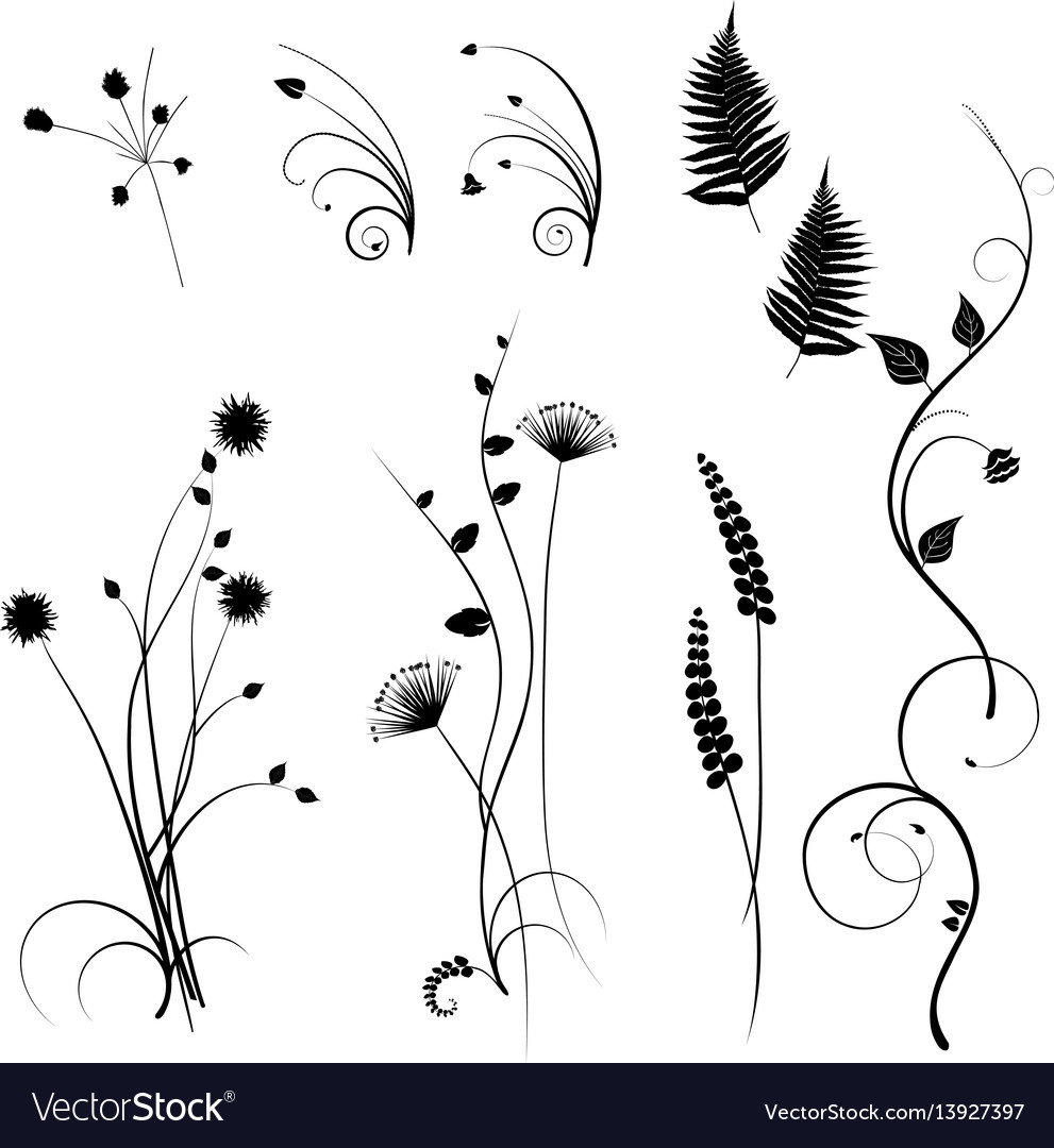 Plants seamless pattern wallpaper