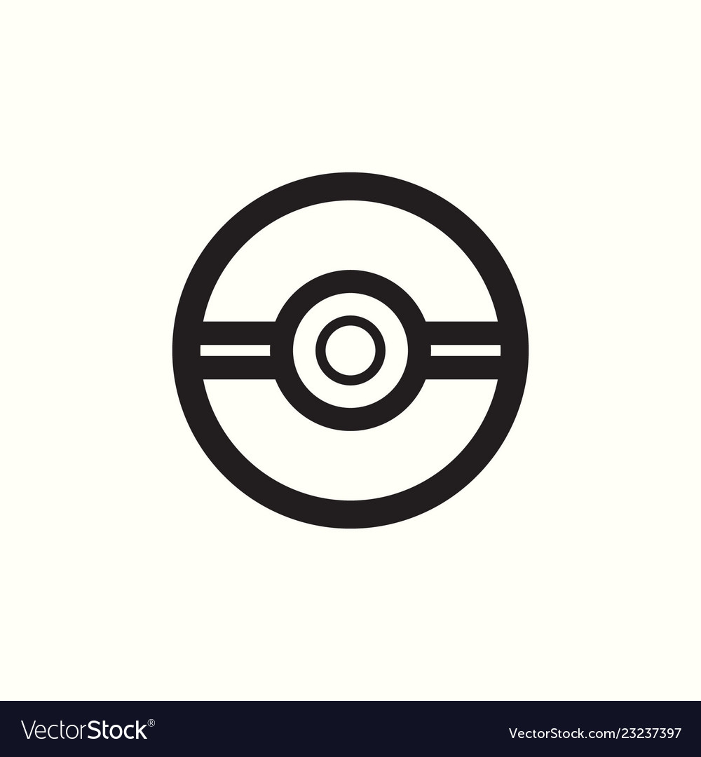 Pokemon Go Logo Pokeball Template Royalty Free Vector Image