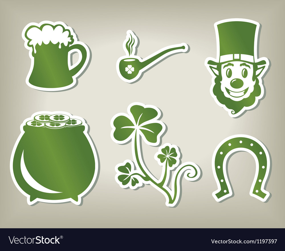 Set of icon of Sant Patricks Day
