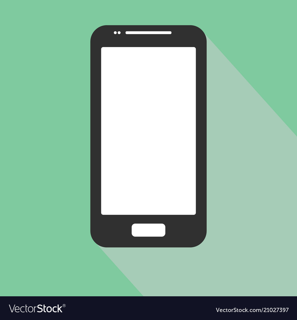 Smartphone iphone icon in the style flat design on