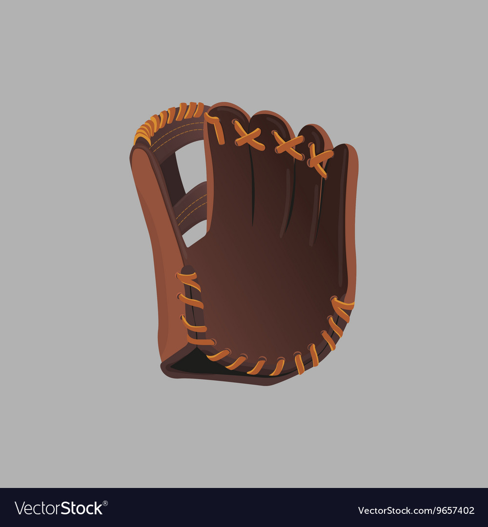 Baseball glove on a gray background