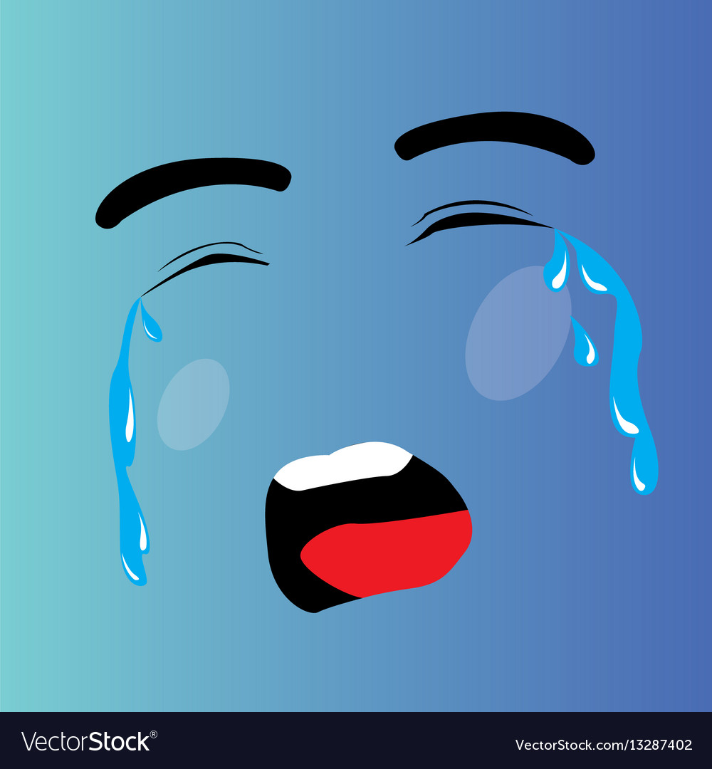 crying cartoon face royalty free vector image vectorstock rh vectorstock com cartoon picture crying face cartoon crying face free download