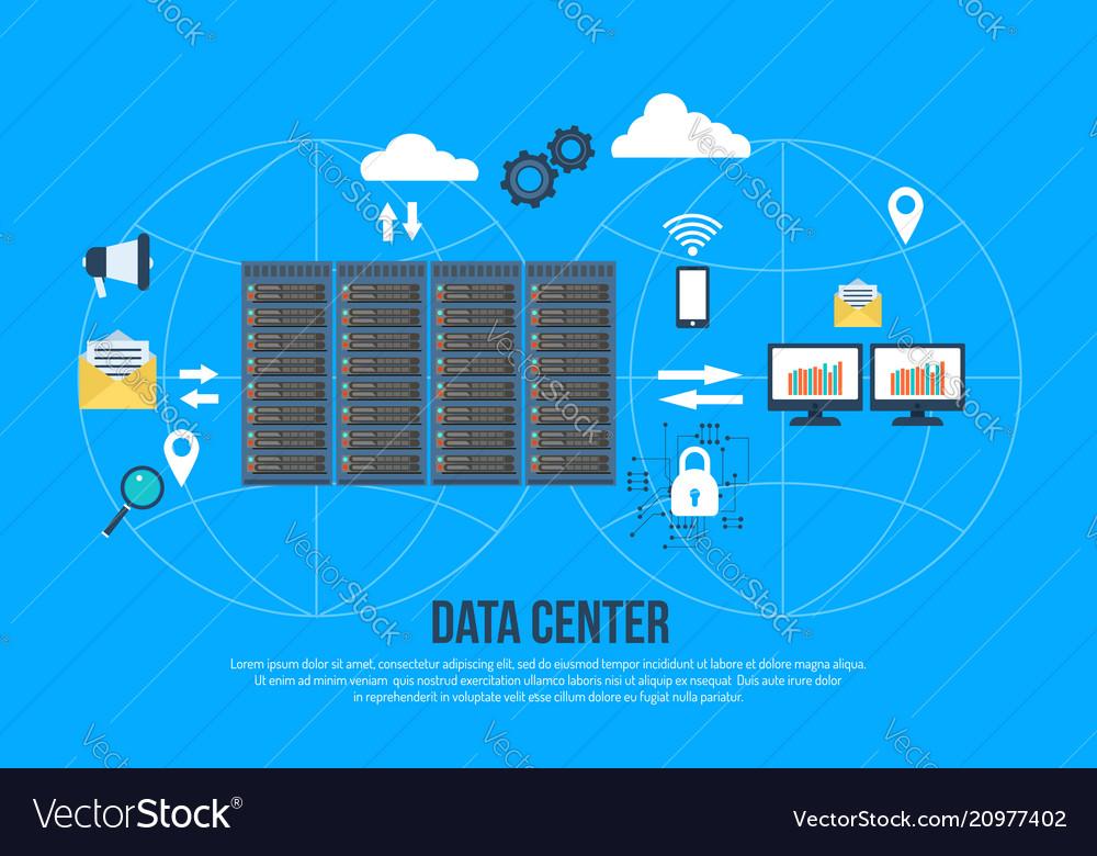 Data center creative concept