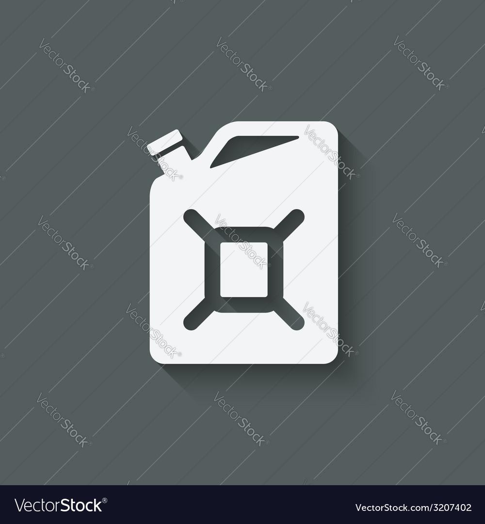 Gasoline canister symbol