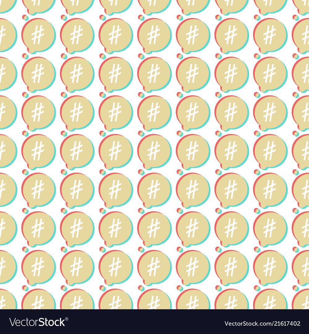 Icon hashtag seamless pattern