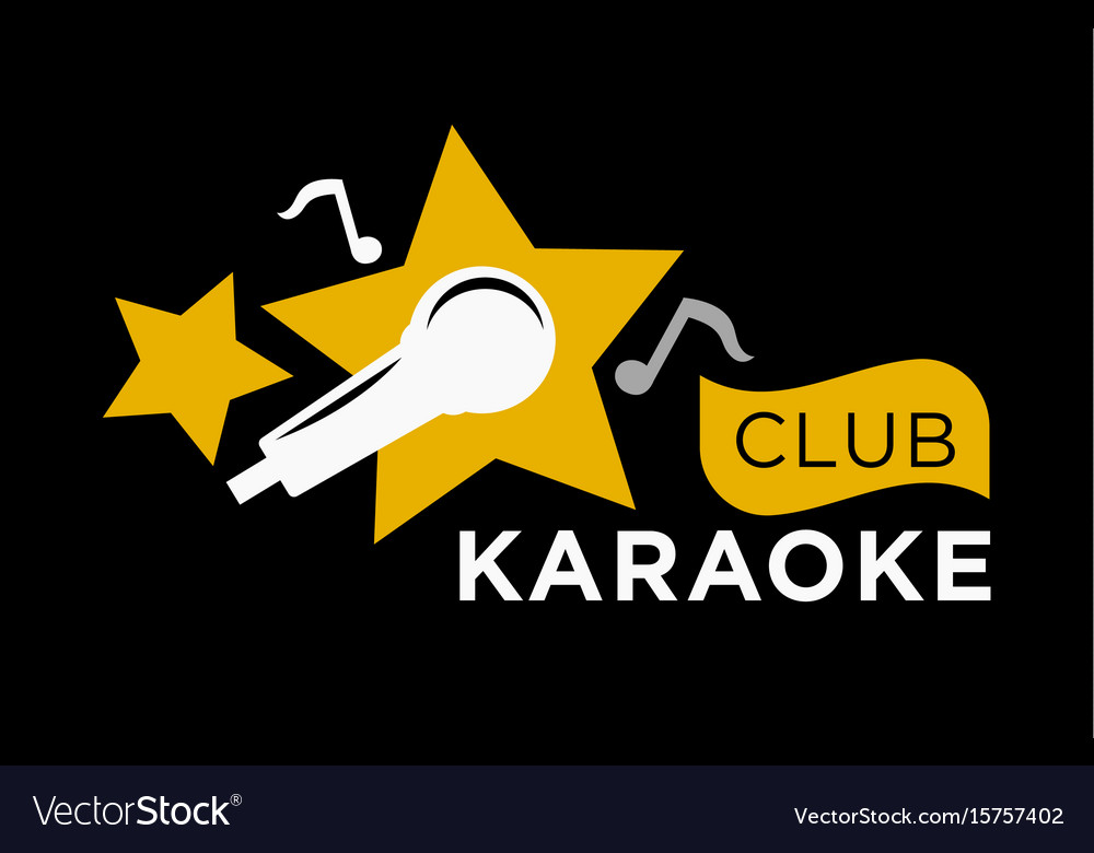 karaoke club icon template of music notes vector image
