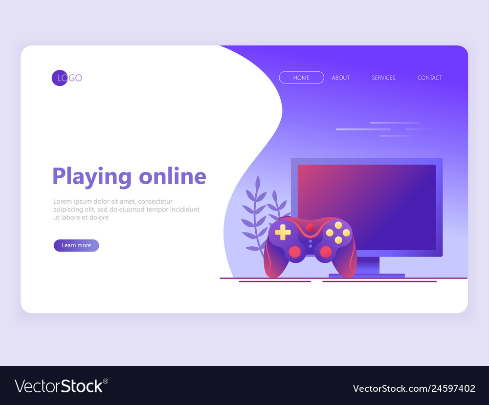 Landing page template video gaming online games