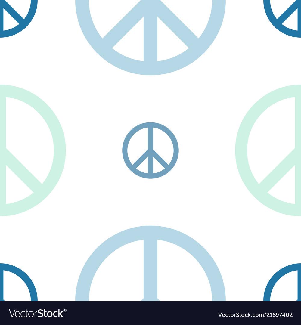 Peace day logo seamless pattern