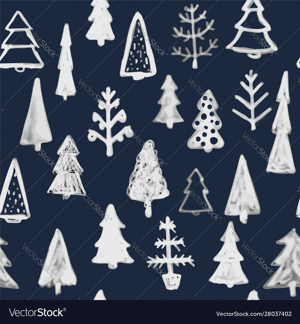 Seamless pattern hand drawn sketch christmas