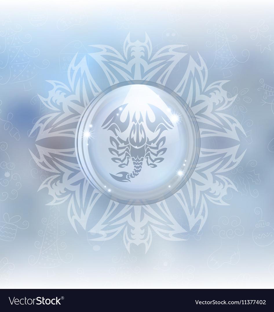 Snow globe with zodiac sign Scorpio