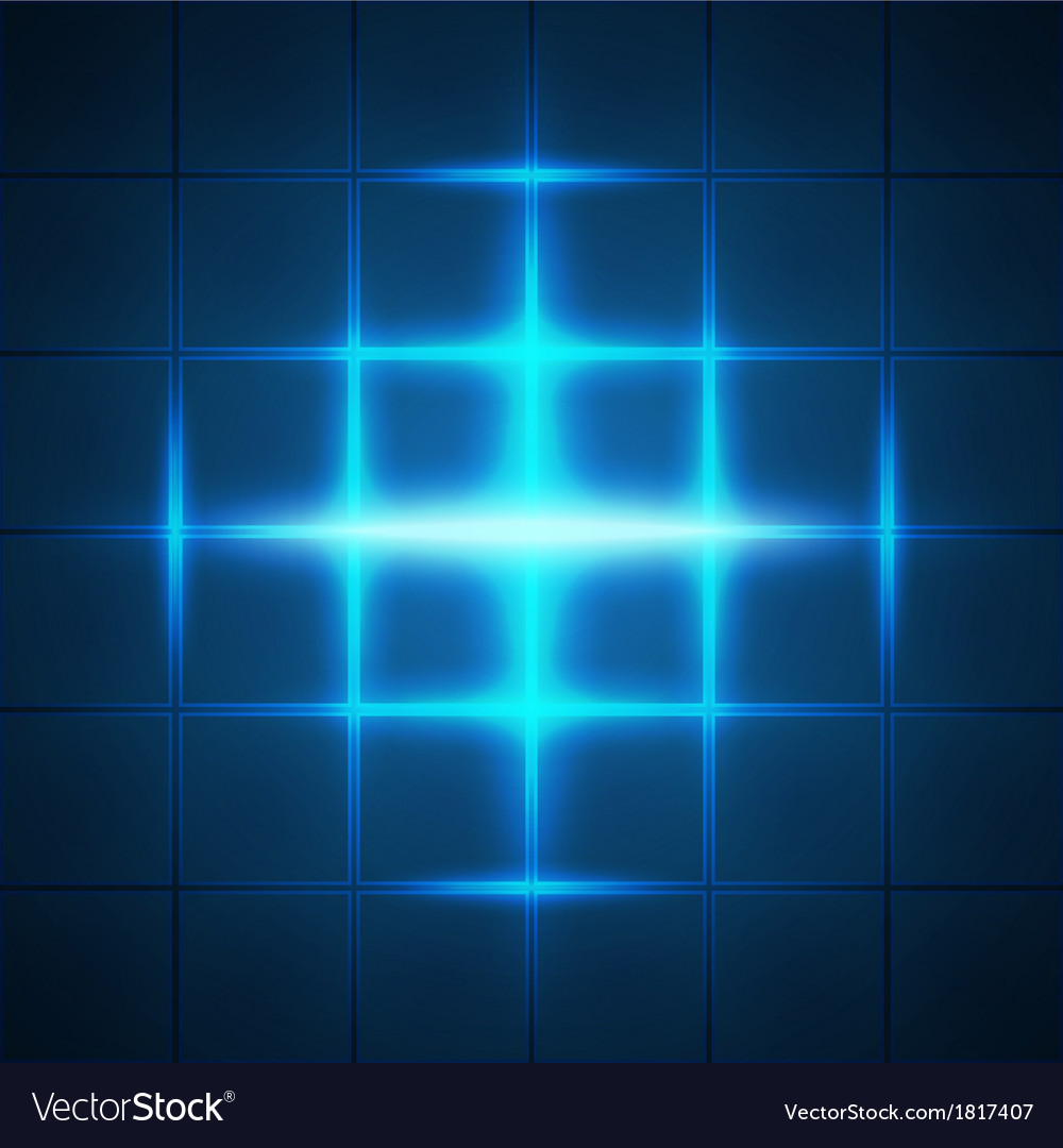 Blue glowing grid squares abstract background
