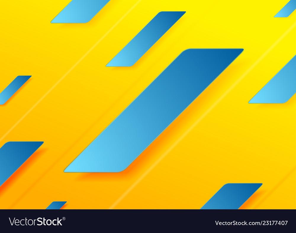 Blue Orange Abstract Geometric Minimal Background