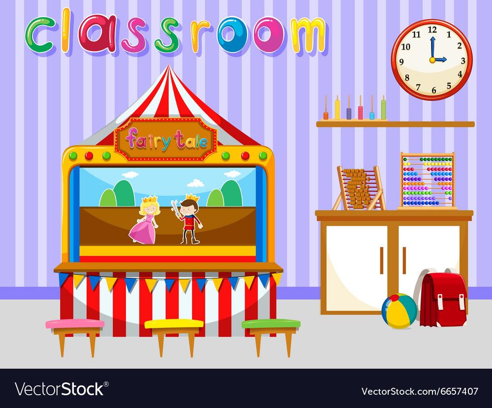Classroom for kindergarten students