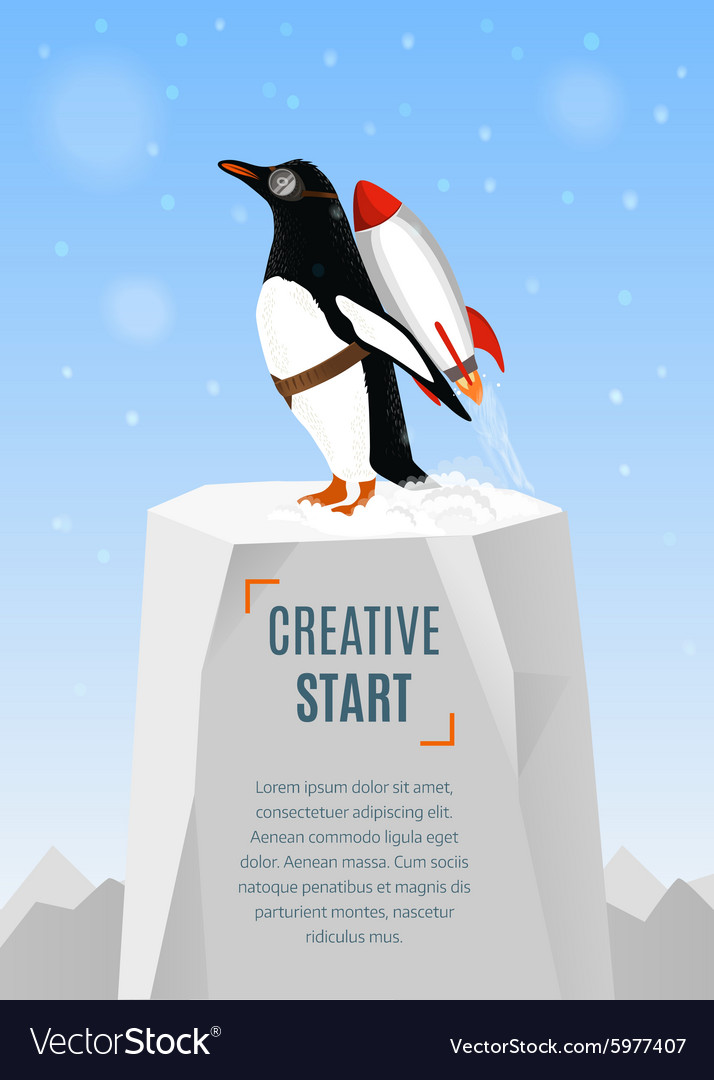 Creative start and creative idea concept poster