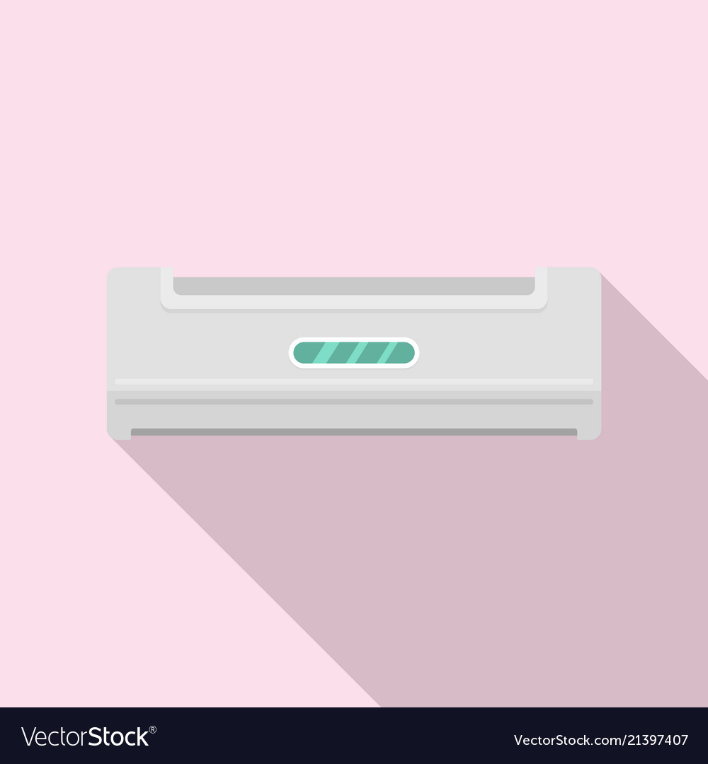 Home conditioner icon flat style
