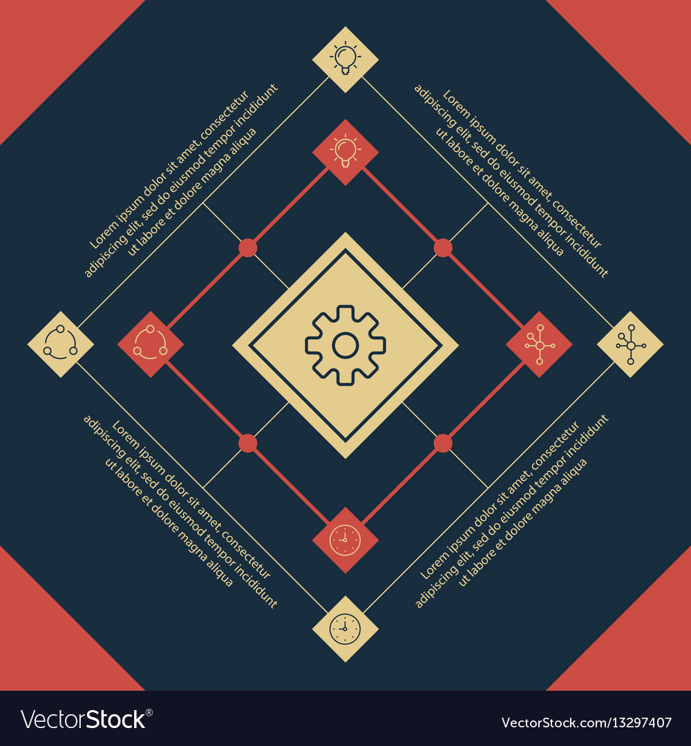 Infographics square elements and icons vector image